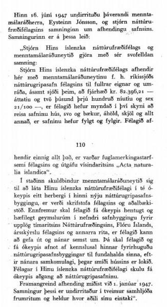 Samningur H.Í.N. og ríkis.
